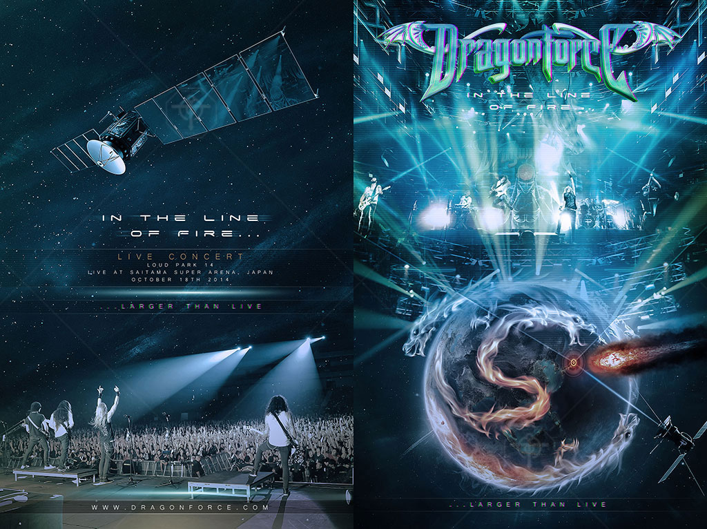 DragonForce - In The Line Of Fire (DVD Super Jewel Case)